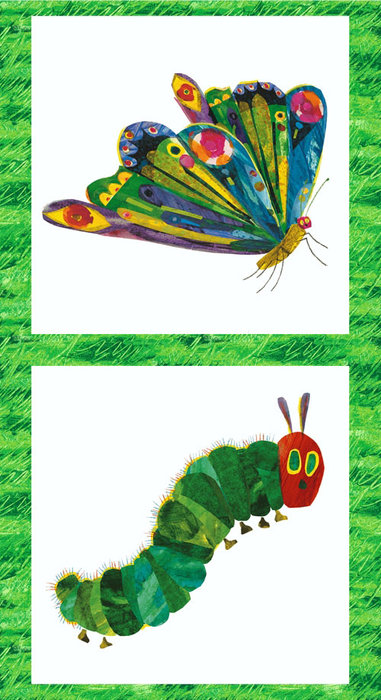 Very Hungry Caterpillar Double Panel Fabric