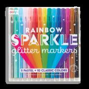 Rainbow Sparkle Glitter Markers (Set of 15)