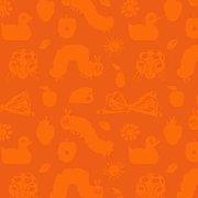 Very Hungry Caterpillar & Friends Orange Fabric