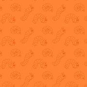 Very Hungry Caterpillar Wiggle Orange Fabric