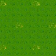 Very Hungry Caterpillar Classic Green/Gold Fabric