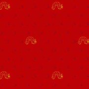 Very Hungry Caterpillar Classic Red/Gold Fabric