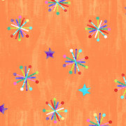 Eric Carle Orange Asterisk Fabric