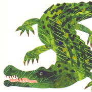 Eric Carle Postcard - Alligator