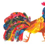Eric Carle Postcard - Rooster