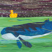 Eric Carle Postcard - Duck and Whale