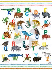"""Eric Carle ABC Canvas Art - Blue 18"""" x 24"""""""