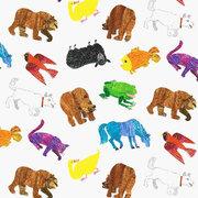 Brown Bear Animals Fabric