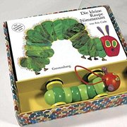 Very Hungry Caterpillar (Board Book)-GERMAN + Wood Toy Set