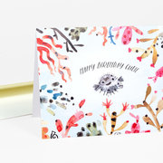 Puffer Fish Birthday Card