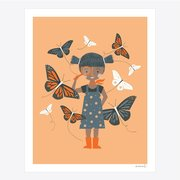 Meenal Patel Print - Butterfly Girl
