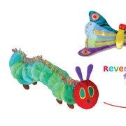 Very Hungry Caterpillar & Butterfly Reversible Plush Toy