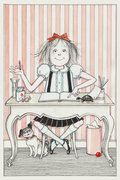 Eloise at Desk Postcard