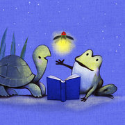 Will Hillenbrand Print - Frog, Turtle & Firefly