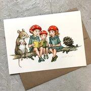Astrid Sheckels Card - Forest Children