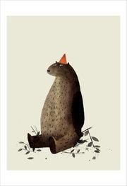 Jon Klassen Print - Red Hat
