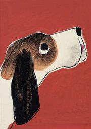 Susanne Suba Postcard - Hobo Hound