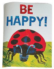 """Eric Carle Ladybug Poster """"Be Happy"""""""