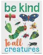 Eric Carle Poster - Be Kind to All Creatures