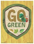 Eric Carle Poster - Go Green