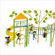 Christian Robinson Print - School's First Day of School Playground