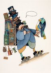 Uri Shulevitz Postcard - Bird