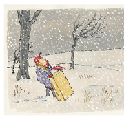 William Steig Postcard - Brave Irene
