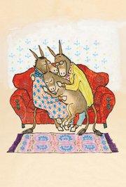 Sylvester and the Magic Pebble Postcard - Family Hug