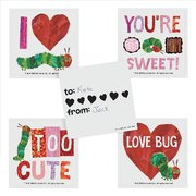 Very Hungry Caterpillar Valentine Sticker Sheet (set of 4)
