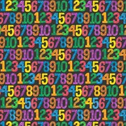 123 to the Zoo Numbers Fabric (Black)