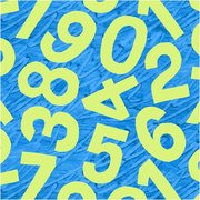 Birthday Blue Numbers Fabric
