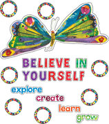 "Butterfly ""Believe In Yourself"" Bulletin Board Set"