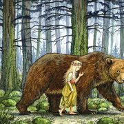 The Girl and the Bear Card