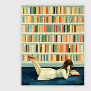 "Girl in the Library Print - 8"" x 10"""