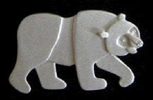 Brown Bear Silver Pin