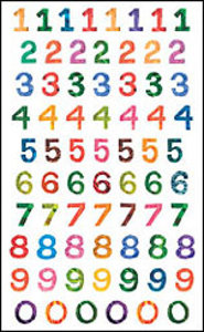 Eric Carle Numbers Sticker Sheet