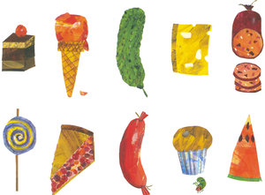Eric Carle Postcard - Junk Food