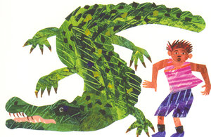Eric Carle Postcard - Alligator