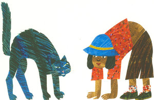 Eric Carle Postcard - Cat and Child