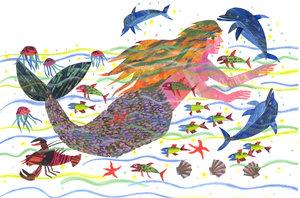 Eric Carle Postcard - Mermaid