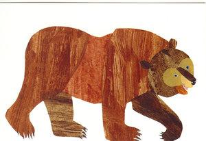 Eric Carle Postcard - Brown Bear
