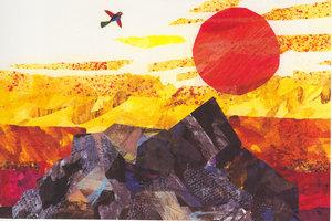 Eric Carle Postcard - Bird and Sun