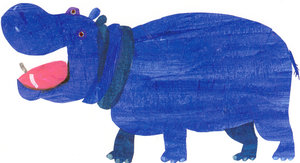 Eric Carle Postcard - Blue Hippo