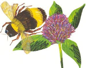 Eric Carle Postcard - Bee