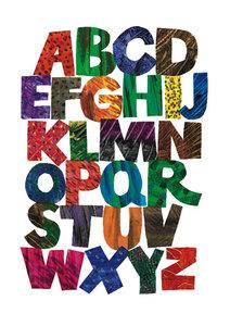 Eric Carle Postcard - Alphabet