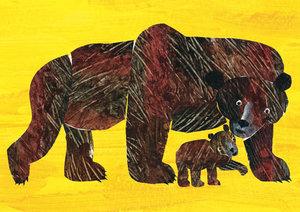 Eric Carle Postcard - Baby Bear