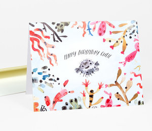 Puffer Fish Birthday Card