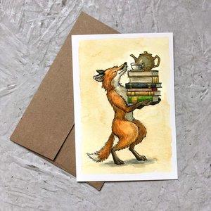 Card-Book Loving Fox