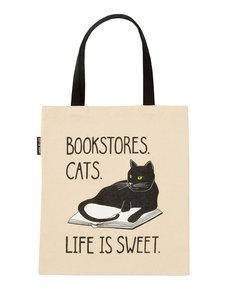 Bookstore Cats Canvs Tote Bag