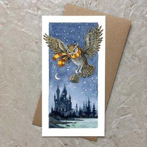 Castle Owl Card